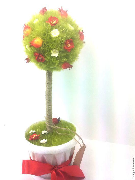 """Топиарии ручной работы. Ярмарка Мастеров - ручная работа. Купить Цветочный топиарий """"Цветущий шиповник"""". Handmade. Комбинированный, цветы"""