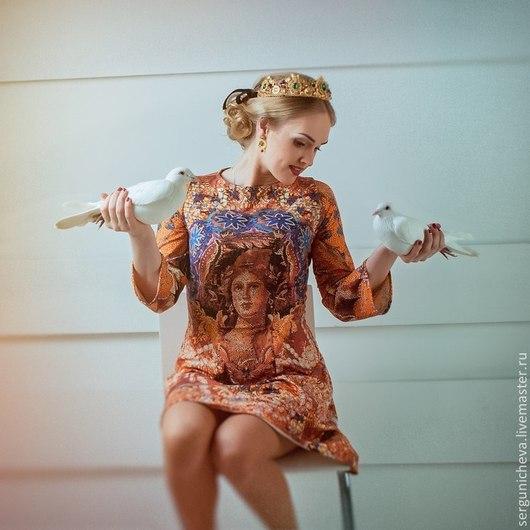 """Платья ручной работы. Ярмарка Мастеров - ручная работа. Купить Платье""""Мadonna""""в стиле DG. Handmade. Византия, в стиле дольче габбана"""