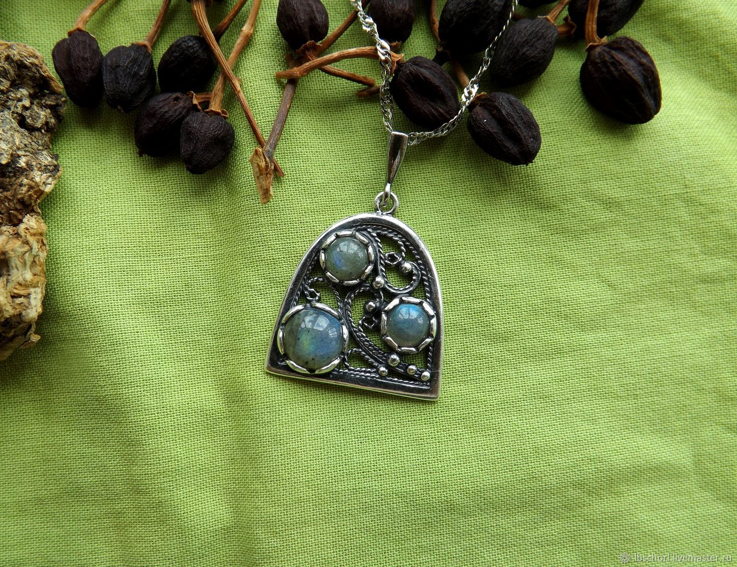Pendant with labradorite, Ritual attributes, Ekaterinburg,  Фото №1