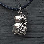 Украшения handmade. Livemaster - original item Silver Hedgehog pendant. Handmade.