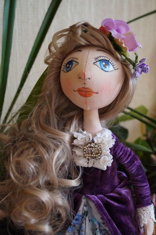 Коллекционные куклы ручной работы. Ярмарка Мастеров - ручная работа. Купить Авторская интерьерная  кукла Марина. Handmade. Фиолетовый, винтаж