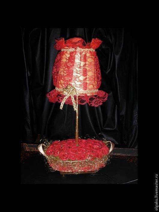 Освещение ручной работы. Ярмарка Мастеров - ручная работа. Купить Настольная лампа. Handmade. Ярко-красный, лампа ручной работы