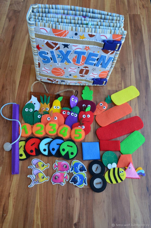 Развивающая книжка из фетра, Развивающие игрушки, Санкт-Петербург, Фото №1