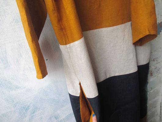 Платья ручной работы. Ярмарка Мастеров - ручная работа. Купить горчица клёвая мешок. Handmade. Рыжий, оверсайз