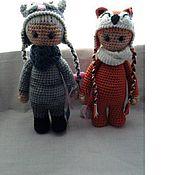 """Куклы и игрушки ручной работы. Ярмарка Мастеров - ручная работа Большие девочки """"Кошка и Лисичка"""". Handmade."""