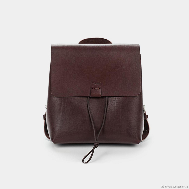 Рюкзаки ручной работы. Ярмарка Мастеров - ручная работа. Купить Кожаный  рюкзак Divalli B0012. 26d50c0338e