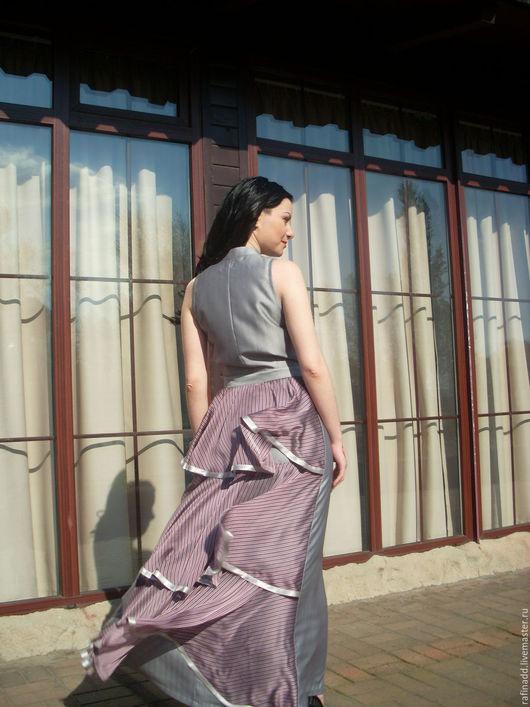 Платья ручной работы. Ярмарка Мастеров - ручная работа. Купить платье   Воланы. Handmade. Серебряный, платье вечернее