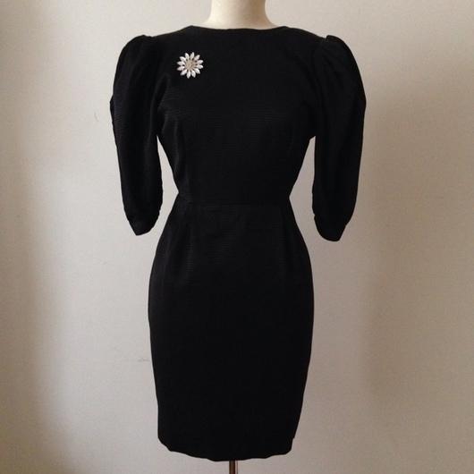 Одежда. Ярмарка Мастеров - ручная работа. Купить Черное платье с открытой спиной 1980-годов. Handmade. Винтажное платье, распродажа