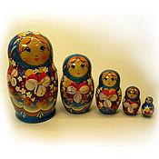 Русский стиль handmade. Livemaster - original item Matryoshka 5 local Floral small 3. Handmade.