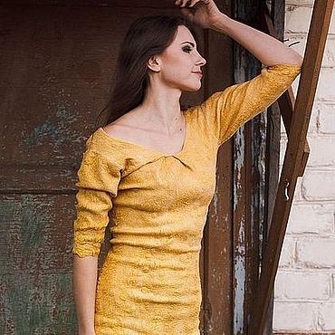 Одежда ручной работы. Ярмарка Мастеров - ручная работа Платье-футляр Antique Gold. Handmade.