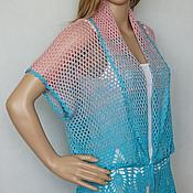 Одежда handmade. Livemaster - original item Beach robe silk