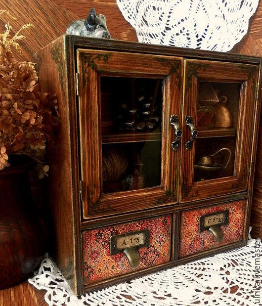 Мини-комоды ручной работы. Ярмарка Мастеров - ручная работа. Купить Шкафчик или аптечка или комодик или.... Handmade.