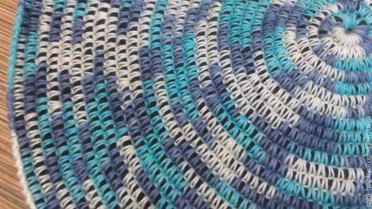 """Текстиль, ковры ручной работы. Ярмарка Мастеров - ручная работа. Купить Коврик """"Небо в облаках"""". Handmade. Голубой, крючком, небо"""