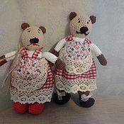 Куклы и игрушки ручной работы. Ярмарка Мастеров - ручная работа Мишка  Мила и ее сестренка Маня. Handmade.