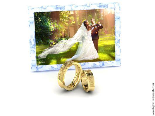 Кольца ручной работы. Ярмарка Мастеров - ручная работа. Купить Обручальные кольца, золото 585, волна. Handmade. Обручальные кольца