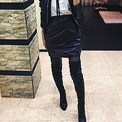 Одежда ручной работы. Ярмарка Мастеров - ручная работа Кожаная юбка. Handmade.