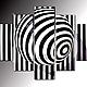 """Абстракция ручной работы. Ярмарка Мастеров - ручная работа. Купить триптих """"Иллюзия"""". Handmade. Чёрно-белый, абстракция, абстрактная картина"""