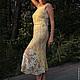 """Платья ручной работы. Платье """"Цветение. Утро"""". Belisama Felt. Ярмарка Мастеров. Нуновойлок, экрю, длинное платье, волокна шёлка"""