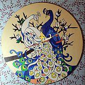 """Для дома и интерьера ручной работы. Ярмарка Мастеров - ручная работа Часы """"Птицы счастья"""". Handmade."""