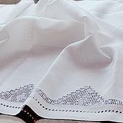 Для дома и интерьера ручной работы. Ярмарка Мастеров - ручная работа Скатерть с вышивкой 140х250см. лён Морской бриз. Handmade.