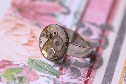 Кольца ручной работы. Ярмарка Мастеров - ручная работа. Купить Кольцо среднее. Handmade. Стимпанк, кольцо, кольцо steampunk, шестерёнки