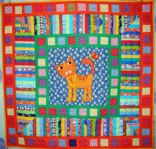 Текстиль, ковры ручной работы. Ярмарка Мастеров - ручная работа. Купить лоскутное одеяло для мальчика КОТЯ одеяло для детей. Handmade.