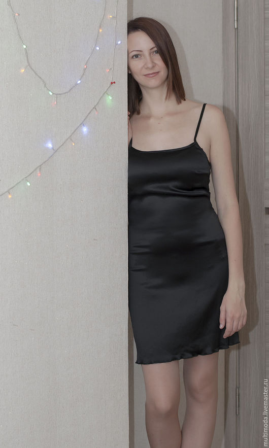 Платья ручной работы. Ярмарка Мастеров - ручная работа. Купить Маленькое Черное платье Новому году  шелк натуральный. Handmade.