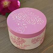 Для дома и интерьера handmade. Livemaster - original item Trinket box Pink Tenderness. Handmade.