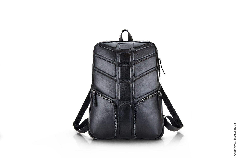 79694bf39a Backpacks handmade. Livemaster - handmade. Buy Large Black Leather Backpack  for Mens.