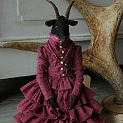 Куклы и игрушки handmade. Livemaster - original item Aida. The black goat.. Handmade.