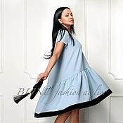 Платья ручной работы. Ярмарка Мастеров - ручная работа Платье из крепа 00032. Handmade.