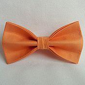 Галстуки ручной работы. Ярмарка Мастеров - ручная работа Галстук-бабочка оранжевый. Handmade.