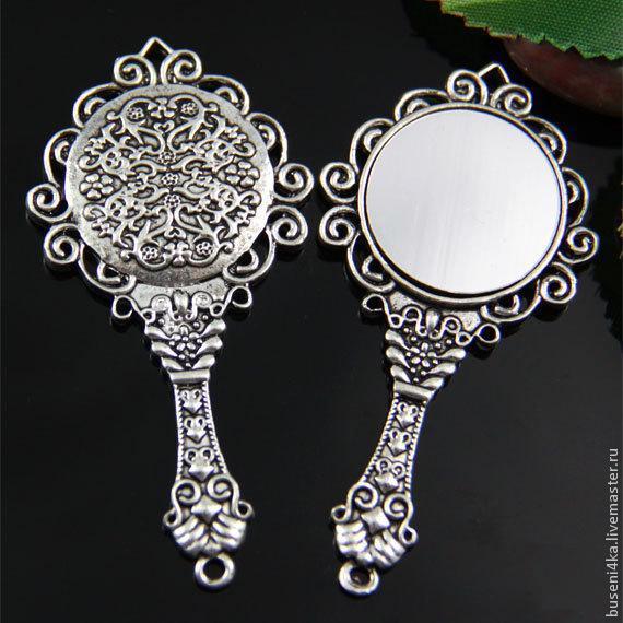 Подвеска Зеркало, античное серебро (1шт), Подвески, Москва,  Фото №1