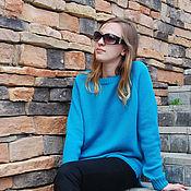 Одежда ручной работы. Ярмарка Мастеров - ручная работа Пуловер из хлопка вязаный женский. Handmade.