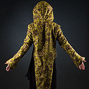 Одежда handmade. Livemaster - original item Green Yellow Golden Hooded Elvish Jacket with Ornaments. Handmade.