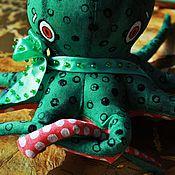 Куклы и игрушки ручной работы. Ярмарка Мастеров - ручная работа Важный, но очень добрый Восьминожка. Handmade.