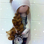 Мягкие игрушки ручной работы. Ярмарка Мастеров - ручная работа текстильная кукла ручной работы подарок на день влюблённых. Handmade.