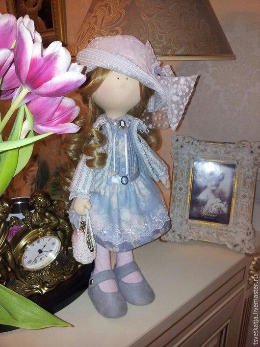 Коллекционные куклы ручной работы. Ярмарка Мастеров - ручная работа. Купить Интерьерная кукла Ляля. Handmade. Серый, для дома и интерьера
