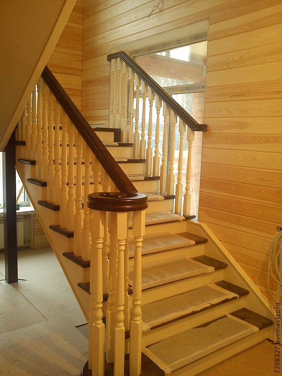 36. The staircase in the cottage, Stairs, Moscow,  Фото №1