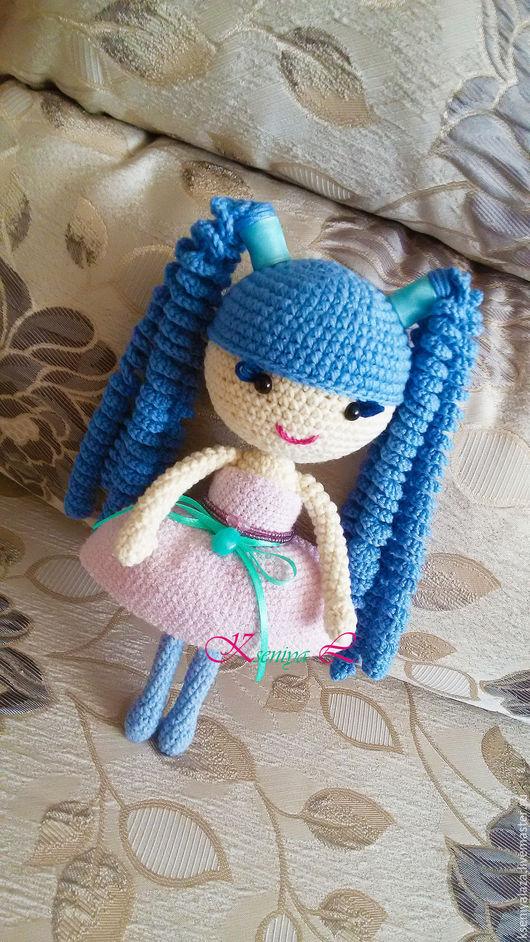 Куклы Тильды ручной работы. Ярмарка Мастеров - ручная работа. Купить Кукла Lalaloopsy с длинными волосами цвета моря. Handmade.
