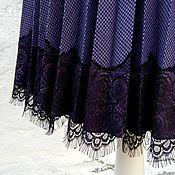 Одежда ручной работы. Ярмарка Мастеров - ручная работа Юбка из шерсти С французским кружевом. Handmade.