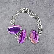 Украшения handmade. Livemaster - original item Bright natural agate bracelet. Handmade.