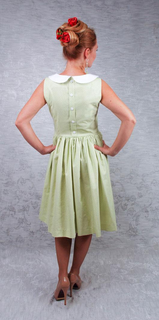 """Платья ручной работы. Ярмарка Мастеров - ручная работа. Купить платье """"Горошки"""". Handmade. Бледно-розовый, хлопок 100%"""
