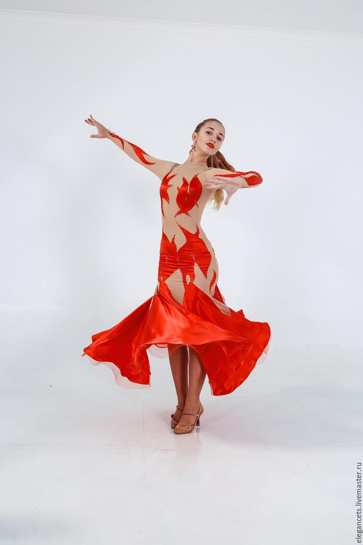 """Платье для бальных танцев  (стандарт) """"Dance of flame"""", Танцевальные костюмы, Мариуполь, Фото №1"""
