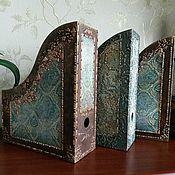 """Канцелярские товары ручной работы. Ярмарка Мастеров - ручная работа Короб для бумаг """"Старинный замок"""". Handmade."""