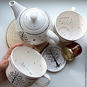 """Посуда ручной работы. Ярмарка Мастеров - ручная работа Чашки """"Космос рядом"""". Handmade."""