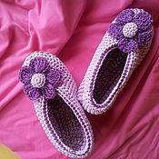 Обувь ручной работы. Ярмарка Мастеров - ручная работа Балетки сиреневые. Handmade.
