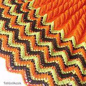 Яркий оранжевый детский плед из хлопка