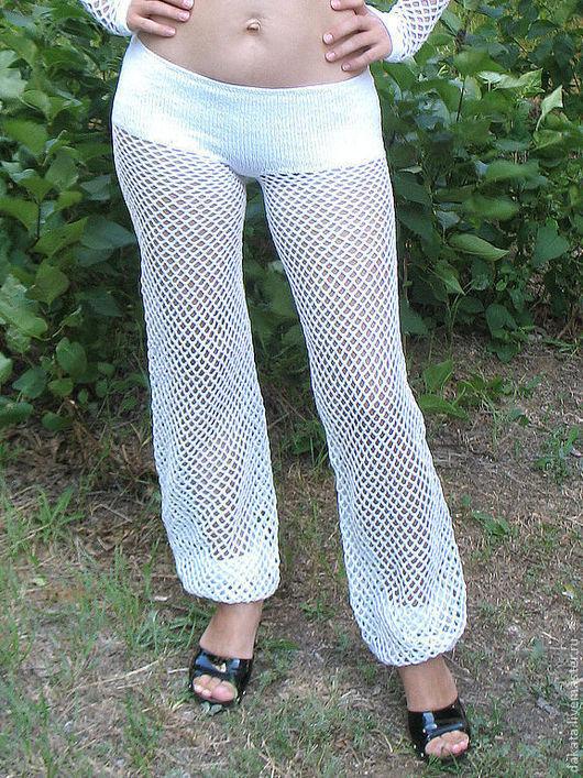 Брюки, шорты ручной работы. Ярмарка Мастеров - ручная работа. Купить Летние брюки сетка. Handmade. Белый, сетка, лайкра