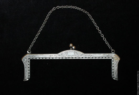 Реставрация. Ярмарка Мастеров - ручная работа. Купить РЕЗЕРВ! Винтажный фермуар, цвет серебристый. Handmade. Серебряный, антикварный, сумочка, серебристый